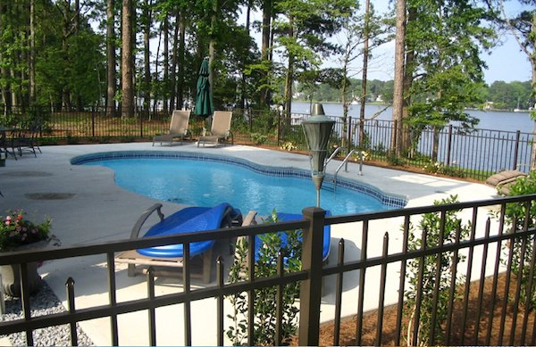 Pool Deck With Fence