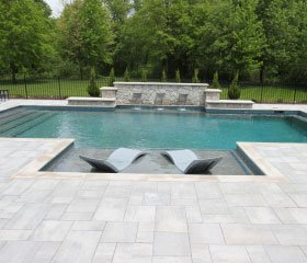 Pool with Shallow Seating Area